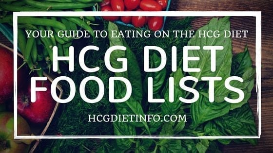 hcg diet foods list - expanded hcg diet food list for all phases