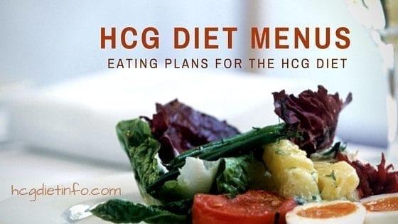 HCG Diet Menus