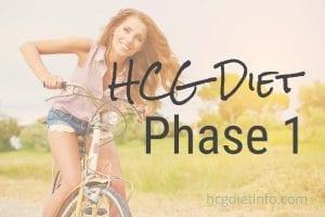 HCG Diet Phase 1 Loading Phase