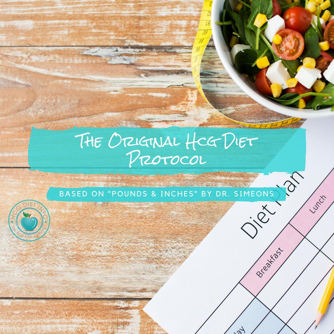 Original Hcg Diet Protocol