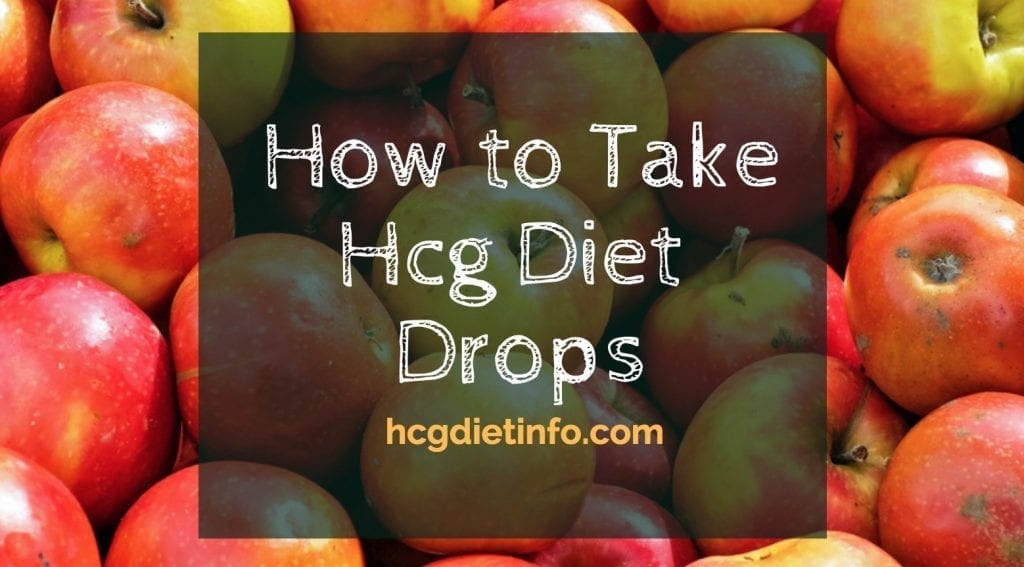 How to take Hcg Diet Drops
