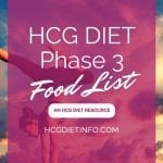 HCG Diet Phase 3 Foods List - Approved foods for P3 |HCG Diet Info