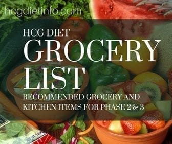 Hcg Diet Grocery List