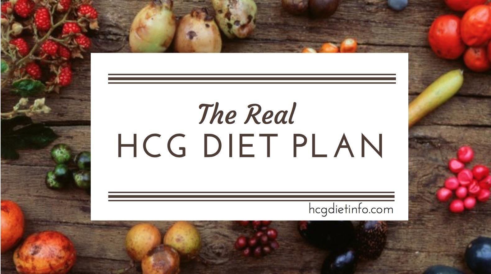 Hcg Diet Plan Guide