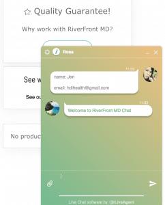 Riverfront MD Customer Support - LiveChat Option