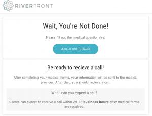 Step 1: Riverfront MD Questionnaire Prompt