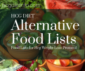 Hcg Diet Alternative Food Lists