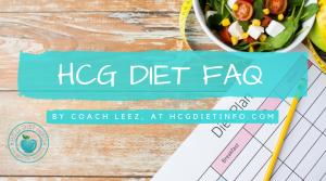 HCG Diet FAQ