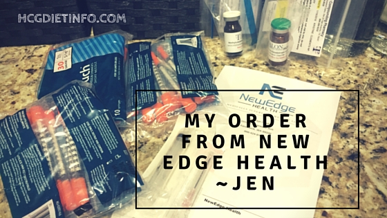 My HCG Diet Order from New Edge Health