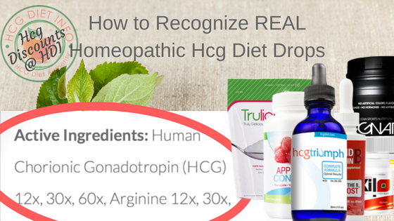 What homeopathic oral Hcg looks like: triumph label