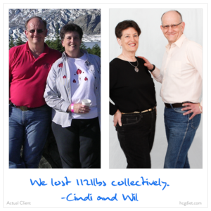 112 Pound loss success story with hcg diet - Cindy and wil
