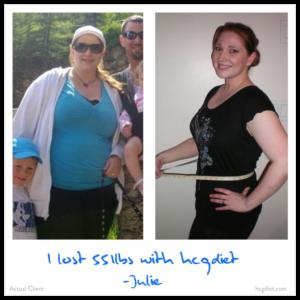 Hcg Diet Success Story - 55 pounds lost - Julie