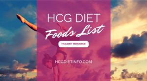 HCG DIET FOODS LIST