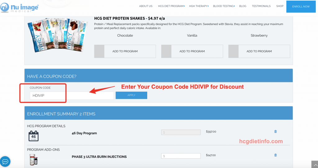 Nu Image Instructions: Enter Coupon Code