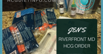My recent Hcg shots order with B12 from Riverfront MD. All supplies included.