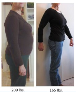 Hcg Diet Results - sideview before and after